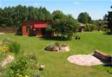 Domek z dużym miejscem wypoczynkowym - mały lasek i pole